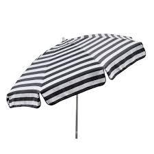 Black And White Patio Umbrella Destinationgear Italian 7 5 Ft Aluminum Drape Tilt Patio Umbrella