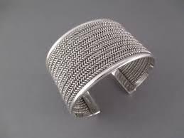bracelet mesh images Yellowhorse wide sterling silver cuff bracelet navajo jewelry jpg