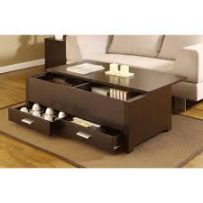 Space Coffee Table Furniture Saving Space Modern Storage Coffee Table Design With