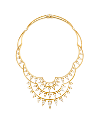 golden fashion necklace images Triplicity golden necklace necklaces jewelry png