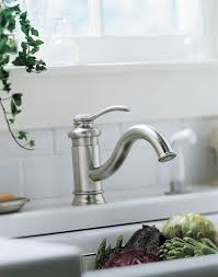 kohler brushed nickel kitchen faucet kohler fairfax kitchen faucet quintadolago