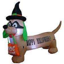 outdoor halloween decorations wayfair inflatable dog indooroutdoor