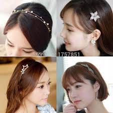 south korea ornament hair bangs hairpin hoop