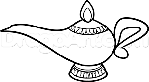 how to draw a genie lamp step by step stuff pop culture free