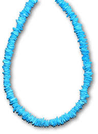 blue shell necklace images Native treasure 18 inch blue colored clam chips puka jpg