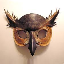 owl mask leather horned owl mask 2 by teonova on deviantart