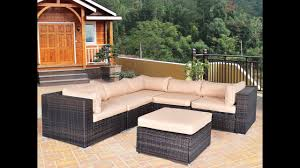 6 pcs rattan wicker patio furniture clearance sale youtube