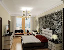 cool master bedroom with sofa decorating with picture gallery