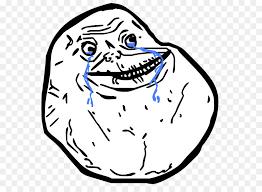 Meme Forever - rage comic internet meme forever alone transparent png download