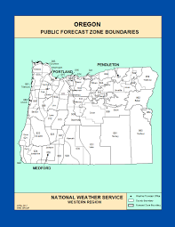 Tillamook Oregon Map by Maps Oregon Zone Forecast Boundaries