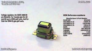 voltage regulator for ezgo club car and yamaha golf carts youtube