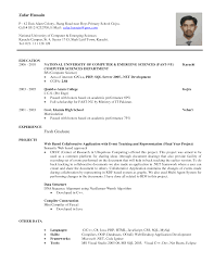 sample resume new graduate computer science templates