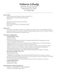 Esl Teacher Cover Letter Sample Teacher Resume Template Free Printable Word Templates Education