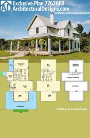 farmhouse with wrap around porch floor plans luxihome