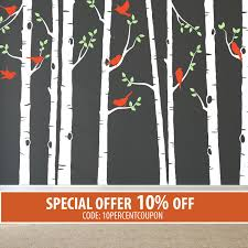 Wall Tree Decals For Nursery Nursery Wall Decal Wall Decals Nursery Tree Decal Birch