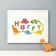 Dinosaur Bedroom Furniture by Bedroom Original Personalised Boy S Name Print White Bed Modern