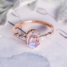 Moonstone Wedding Ring by