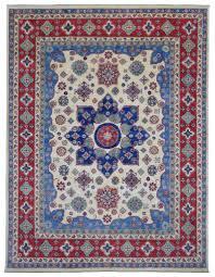 Pak Kazak Rugs Blue And Beige Fine Pakistan Kazak Large Oriental Rug 9 U00271x11 U00279