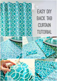 Tab Curtains Pattern Step By Step Tutorial For Sewing Diy Back Tab Curtains