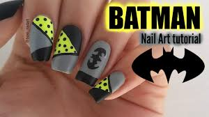 diy batman nails nail art tutorial youtube