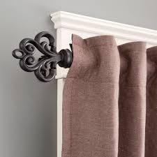 window treatments easily adjust triple curtain rod triple
