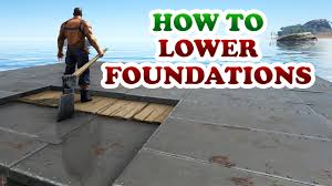 how to lower and extend a foundation on a platform saddle or a