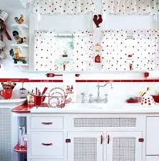 best of white and red kitchen curtains designs with kitchen red