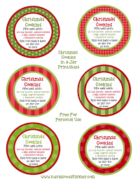 8 best images of free christmas printable jar labels free