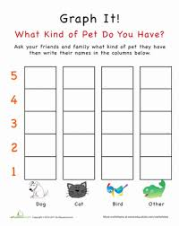 graph it what kind of pet do you have worksheet education com
