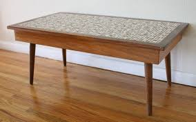 stylish tile coffee table with tile picked vintage furniture