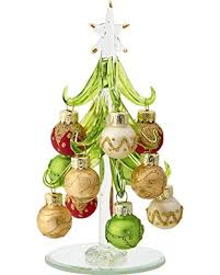 deal alert lsarts glass tree with multicolored gold