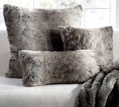 Couch Pillow Slipcovers Faux Fur Pillow Cover Gray Ombre Pottery Barn