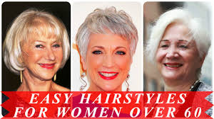 easy hairstyles for women over 60 youtube