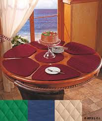 wedge shaped placemats ebay 7 pc round table wedge shaped placemat set in stock 6 quilted ctr trivet kitchen