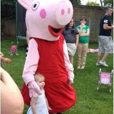 Peppa Pig Halloween Costume Pig Mascot Costume Free Shipping