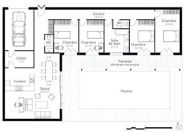 plan maison gratuit plain pied 3 chambres plan maison plain pied 3 chambres 120m2 plans m garage