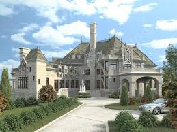 mansion plans chateau novella luxury house plan small castle plan