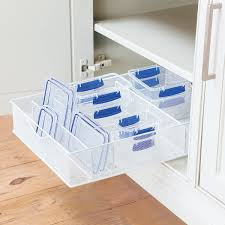 Thin Storage Containers White Mesh Food Storage Organizers Plastic Containers Gliders
