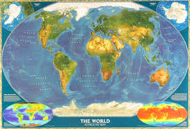 World Map Longitude by World From Space Map