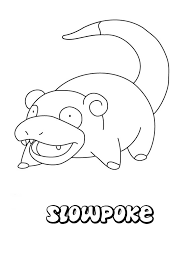 slowpoke coloring pages hellokids