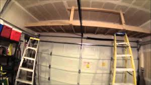 building a shelf above the garage door youtube