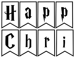 harry potter christmas decor banner paper trail design
