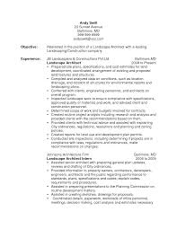 Resume Samples Architect by Landscape Architect Resume Examples