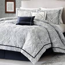 Luxury White Bedding Sets Black And White Comforter Sets Handprinting Comforter Bed Set Desk
