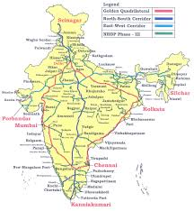 Pathankot India Map by Important National Highways In India Gk Planet