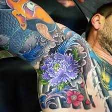 Male Flower Tattoos - 90 armpit tattoo designs for men underarm ink ideas