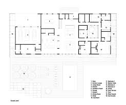 case study houses floor plans meadow house office mian ye arch architecture plan and