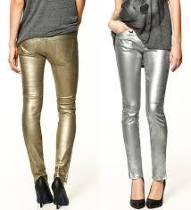 Celana Zara rockin zara metallic trousers in gold or silver