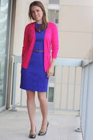 blue and pink combination dress best dressed