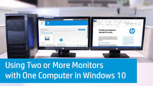 hp desktop pcs using two or more monitors with one computer